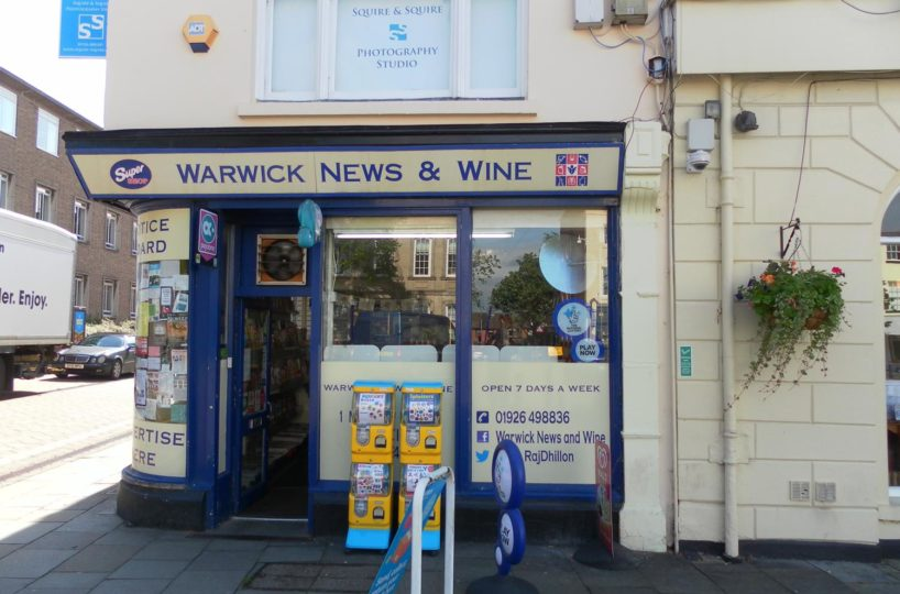 Leasehold Newsagents and Off-Licence Located In Warwick