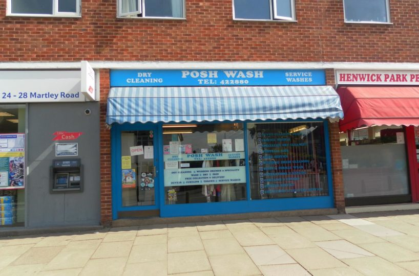 Leasehold Dry Cleaners and Launderette Located In Worcester