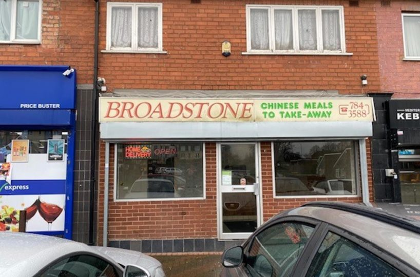 Leasehold Chinese Takeaway Located In Yardley