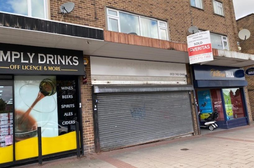 Freehold Vacant Retail Premises Located In Solihull