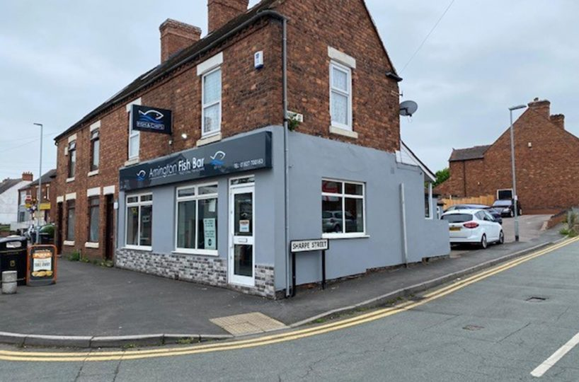 Freehold Fish & Chip Takeaway Located In Tamworth