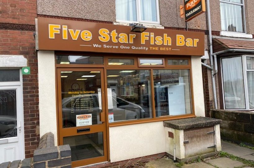 Freehold Traditional Fish and Chip Takeaway Located In Nuneaton