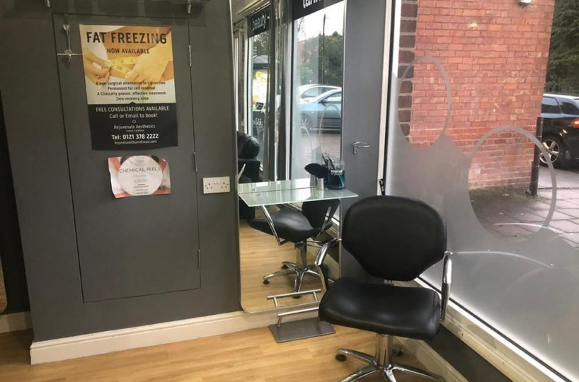 Leasehold Aesthetics/Beauty Clinic and Hairdressing Located In Sutton Coldfield